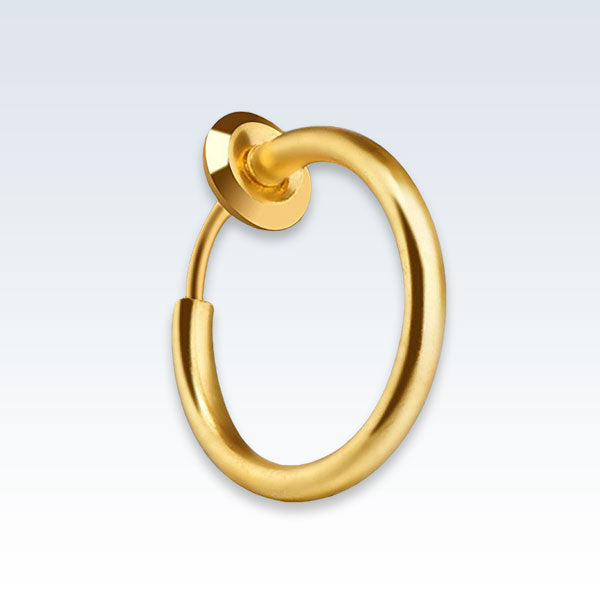 Hoop Clip-On Earring Gold