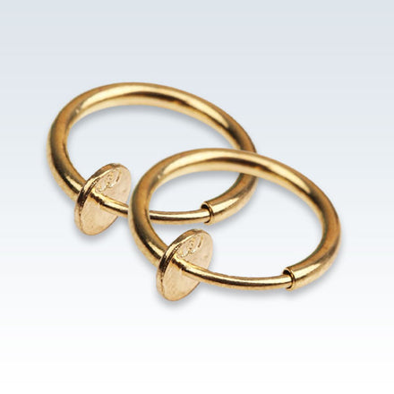 Hoop Clip-On Earrings Gold