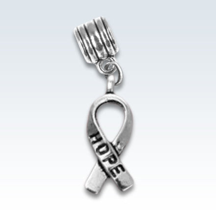Hope Awareness Ribbon Metal Charm