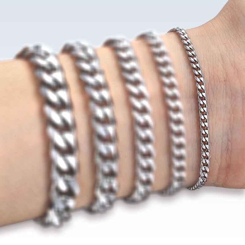 Stainless Steel Box Bracelet For Charm