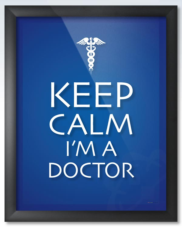 Keep Calm I'm a Doctor DeuPair Flip Frame