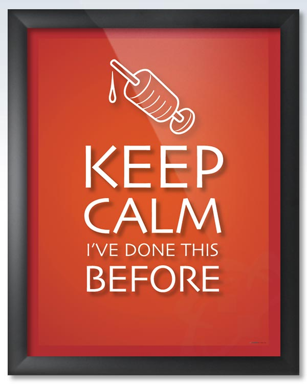 Keep Calm Done This Before DeuPair Flip Frame