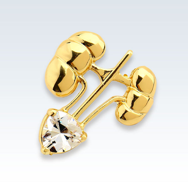 Gold Kidneys Lapel Pin