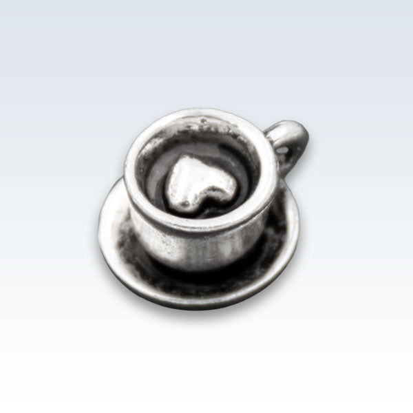 Latte Cappuccino Antique Metal Charm