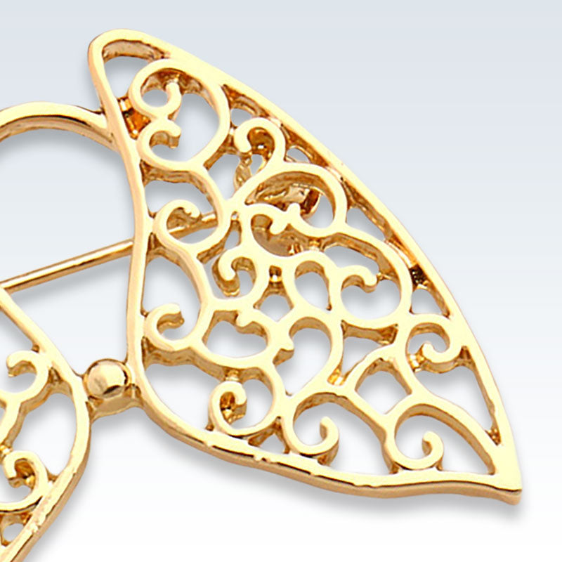 Hollow Lungs Gold Lapel Pin Detail