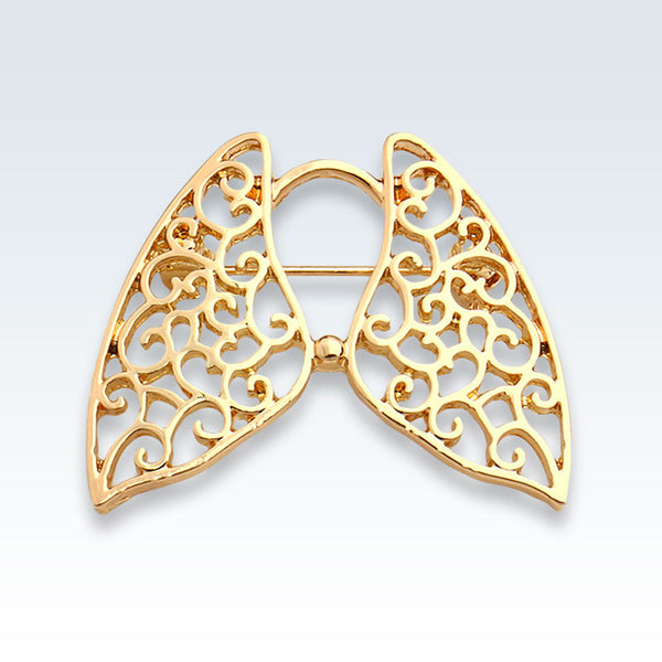 Hollow Lungs Gold Lapel Pin