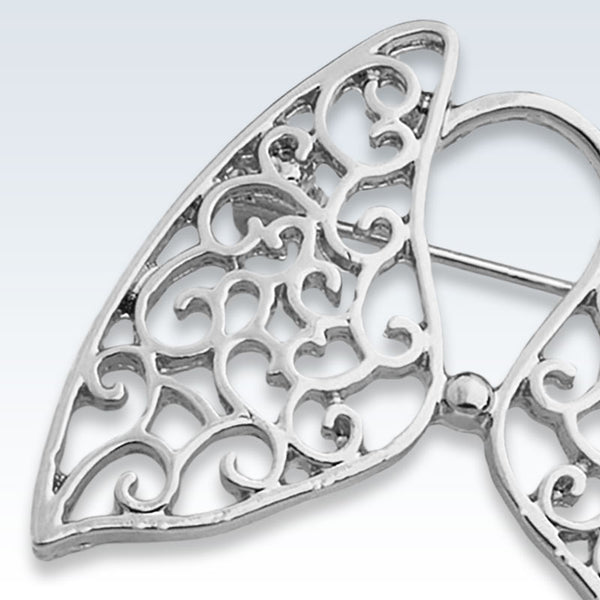 Hollow Lungs Silver Lapel Pin Detail