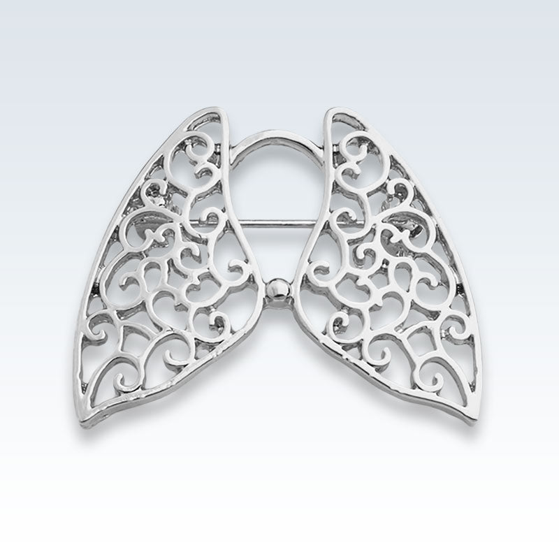 Hollow Lungs Silver Lapel Pin