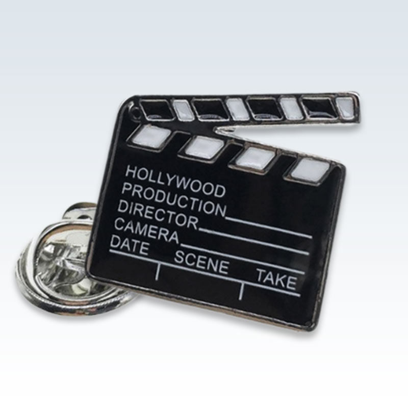 Movie Clapper Enamel Lapel Pin