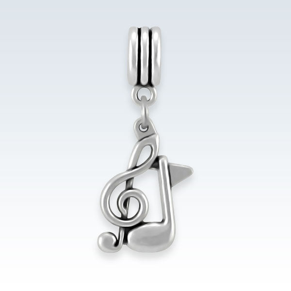 Music Notes Metal Charm