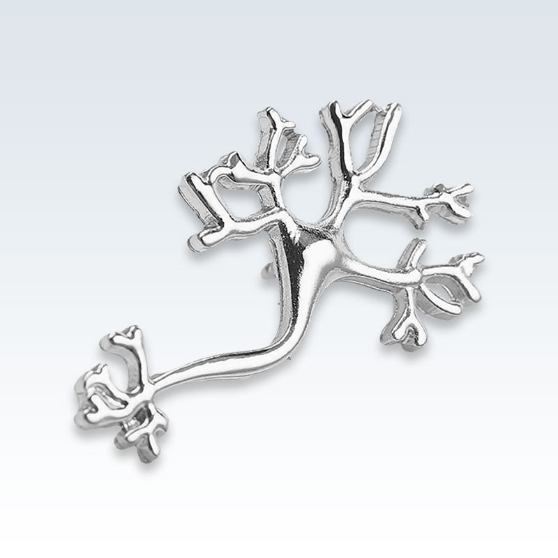 Silver Gold Nerves Lapel Pin