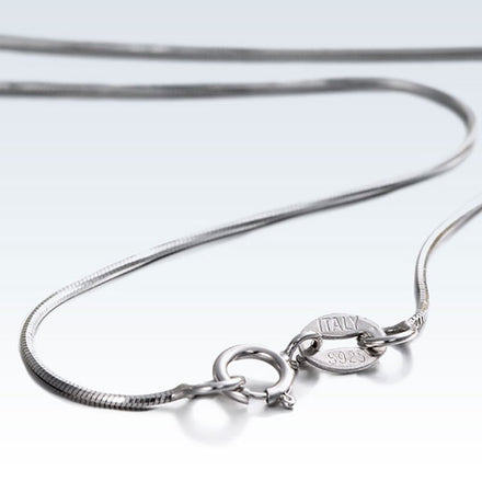 Thin Octagon 925 Silver Necklace