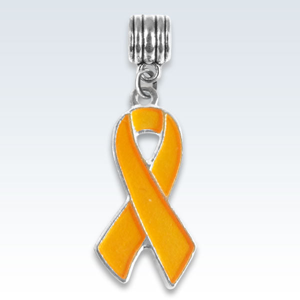 Awareness Ribbon Orange Metal Charm