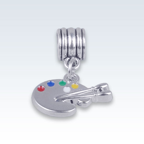 Artists Paint Pallet Silver Alloy Charm