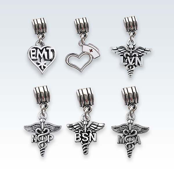 Medical Caduceus Charms