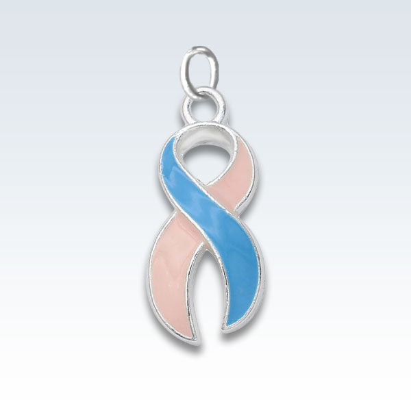 Pink and Blue Ribbon Awareness Charm