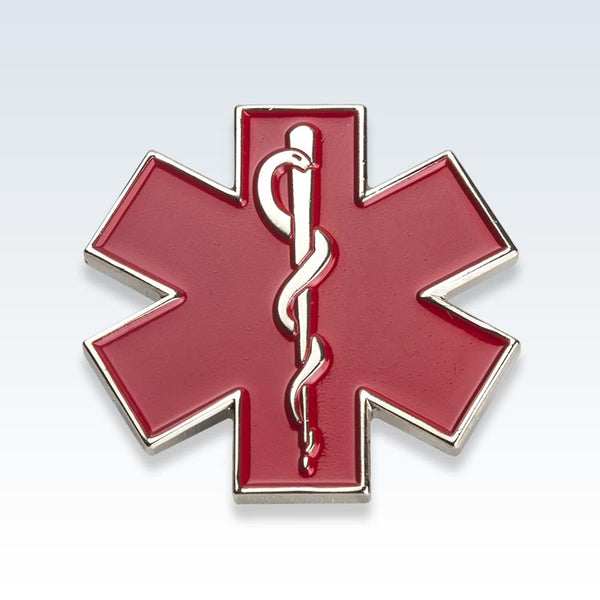 Red Star of Life Lapel Pin
