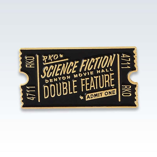 Vintage Movie Ticket Lapel Pin