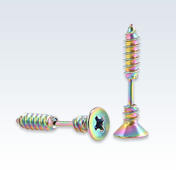 Multicolor Stainless Steel Screw Earring Studs