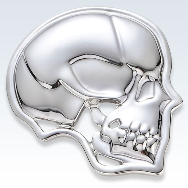 Silver Skull Lapel Pin Detail
