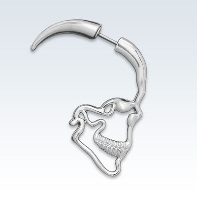Anatomical Skull Profile Earring