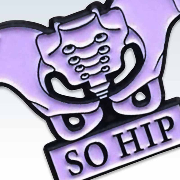 Lavender So Hip Lapel Pin Detail