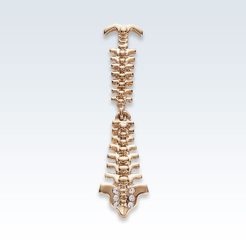Gold Spine Lapel Pin