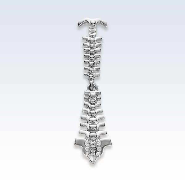 Silver Spine Lapel Pin