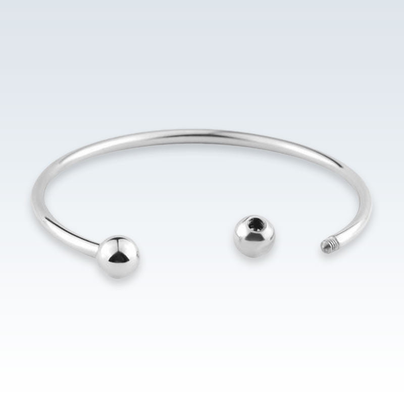 Stainless Steel Cuff Bracelet Open