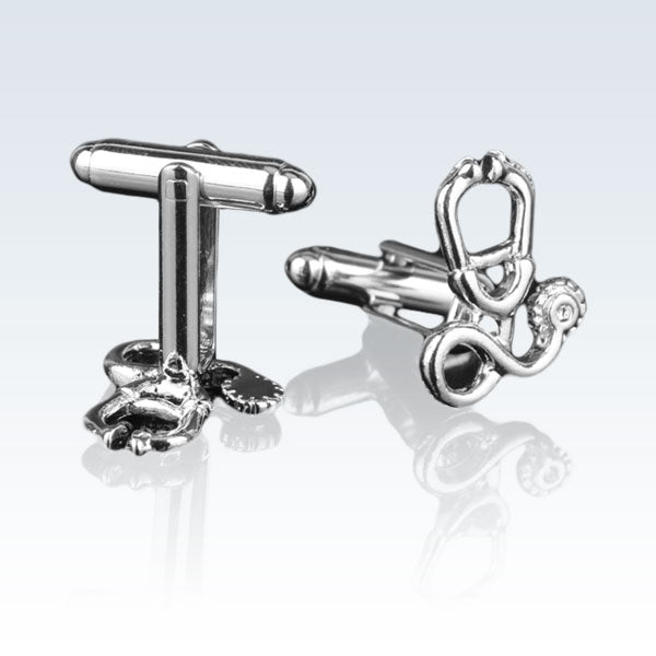 Stethoscope Silver Cuff Links