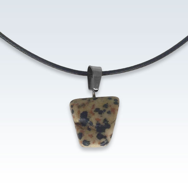 Speckled Stone Necklace Back