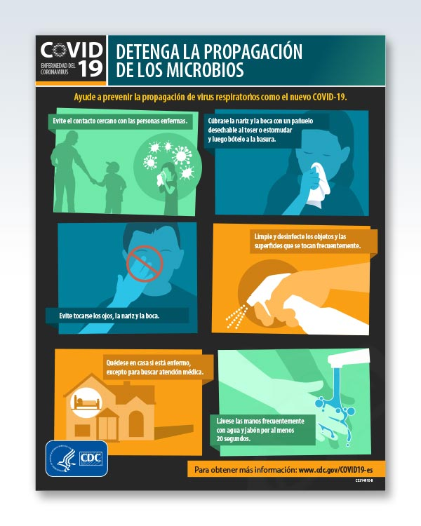 Stop Spread of Germs Spanish Factsheet