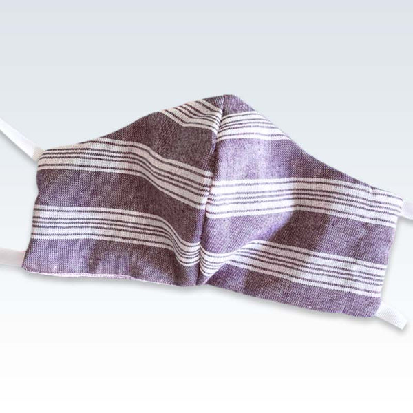 Violet Stripe Reusable Large Mask
