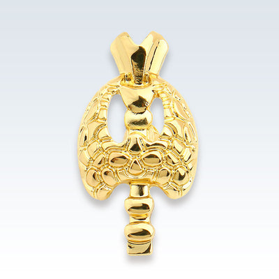 Gold Thyroid Lapel Pin