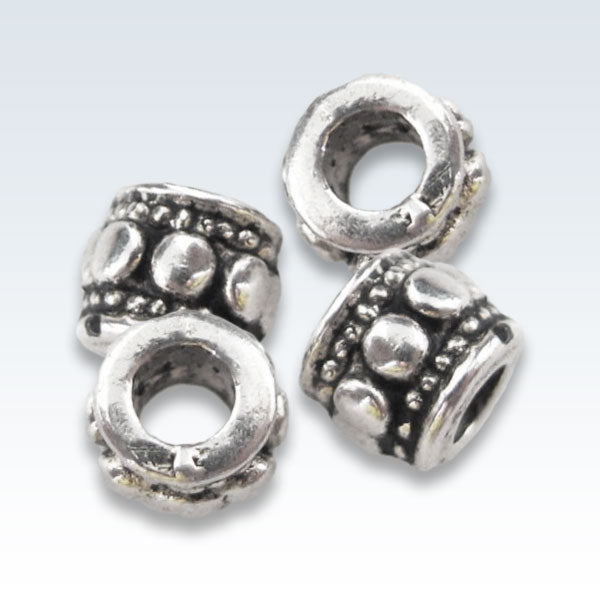 Tibetan Silver Charm Spacer Beads