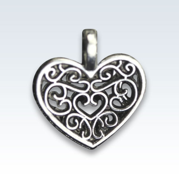 Antique Metal Hollow Heart Charm