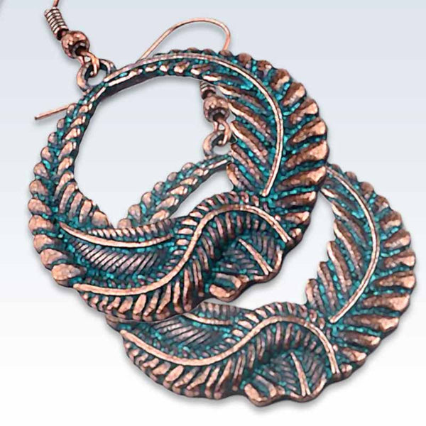 Antique Bronze Wreath Earrings Detail