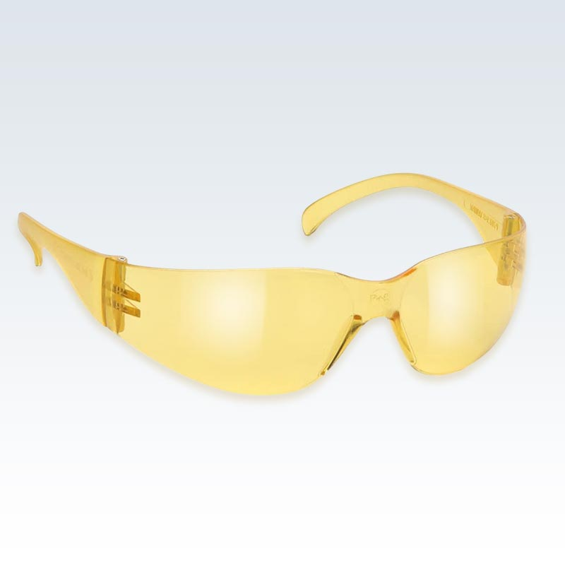 Yellow Anti-Scratch Safety Glasses