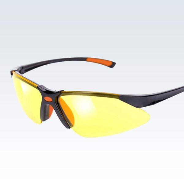 Yellow Safety Glasses Quarter View