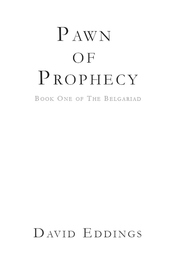 Pawn of Prophecy Lettered Edition