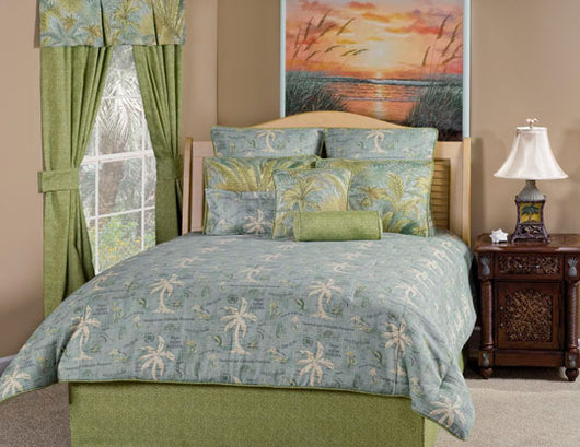 Island Song Surf Quilted Pillow Sham