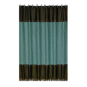 Cheyenne Turquoise Shower Curtain Turquoise