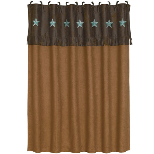Laredo Turquoise Shower Curtain