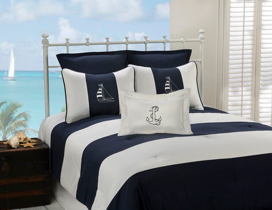 Regatta Navy Comforter Set