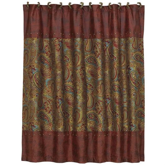 San Angelo Paisley Shower Curtain