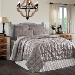 Camille Taupe Quilt Set