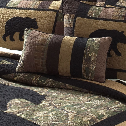 Camo Bear Decorative Pillow