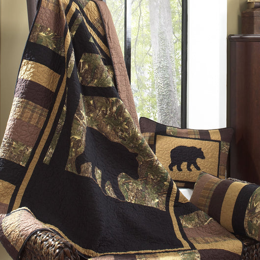 Camo Bear Throw Blanket