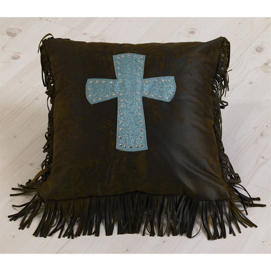 Cheyenne Turquoise Decorative Pillow Square with Star Turquoise