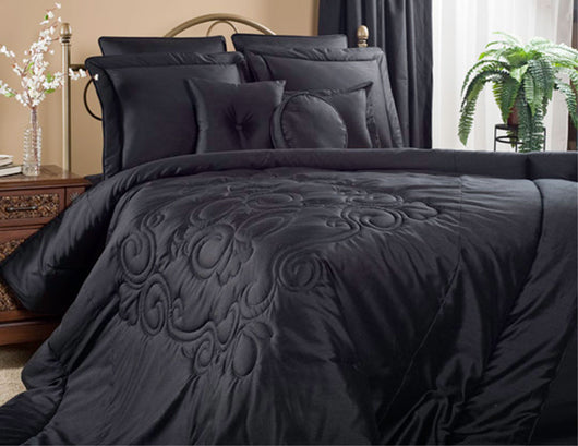 Medallion Black Comforter Set